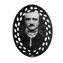 Edgar Allan Poe  Oval Filigree Ornament (two Sides) by Valentinaart