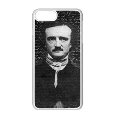 Edgar Allan Poe  Apple Iphone 7 Plus White Seamless Case by Valentinaart