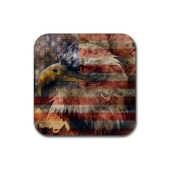 Vintage Eagle  Rubber Coaster (square)  by Valentinaart