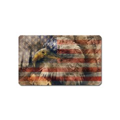 Vintage Eagle  Magnet (name Card) by Valentinaart