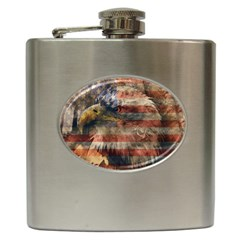 Vintage Eagle  Hip Flask (6 Oz) by Valentinaart