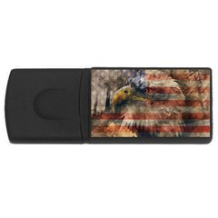 Vintage Eagle  Usb Flash Drive Rectangular (4 Gb) by Valentinaart