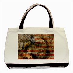 Vintage Eagle  Basic Tote Bag (two Sides) by Valentinaart