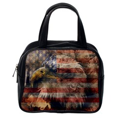 Vintage Eagle  Classic Handbags (one Side) by Valentinaart