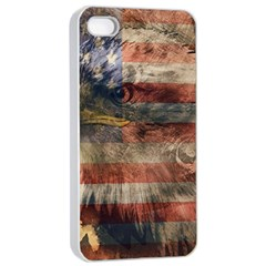 Vintage Eagle  Apple Iphone 4/4s Seamless Case (white) by Valentinaart
