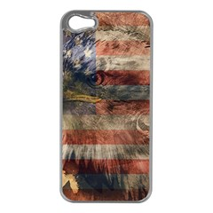 Vintage Eagle  Apple Iphone 5 Case (silver) by Valentinaart