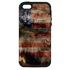 Vintage Eagle  Apple Iphone 5 Hardshell Case (pc+silicone) by Valentinaart
