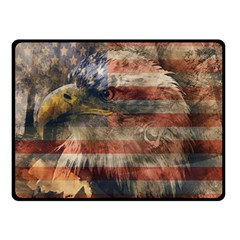 Vintage Eagle  Double Sided Fleece Blanket (small)  by Valentinaart