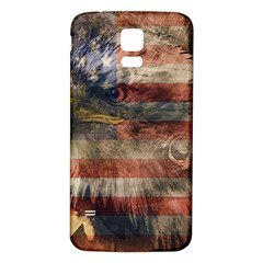 Vintage Eagle  Samsung Galaxy S5 Back Case (white) by Valentinaart
