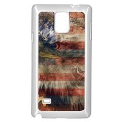 Vintage Eagle  Samsung Galaxy Note 4 Case (white) by Valentinaart