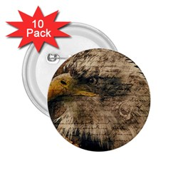 Vintage Eagle  2 25  Buttons (10 Pack)  by Valentinaart