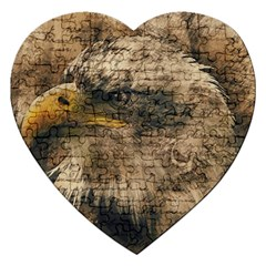 Vintage Eagle  Jigsaw Puzzle (heart) by Valentinaart