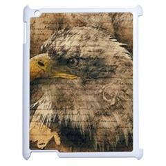 Vintage Eagle  Apple Ipad 2 Case (white) by Valentinaart