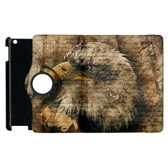 Vintage Eagle  Apple Ipad 2 Flip 360 Case by Valentinaart