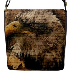 Vintage Eagle  Flap Messenger Bag (s) by Valentinaart