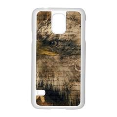 Vintage Eagle  Samsung Galaxy S5 Case (white) by Valentinaart
