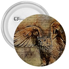 Vintage Owl 3  Buttons by Valentinaart