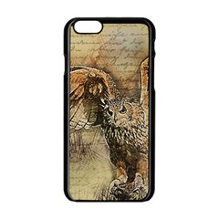 Vintage Owl Apple Iphone 6/6s Black Enamel Case by Valentinaart