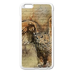 Vintage Owl Apple Iphone 6 Plus/6s Plus Enamel White Case by Valentinaart