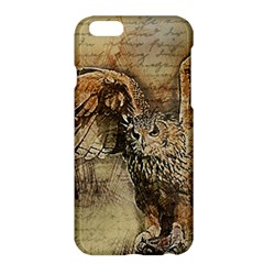 Vintage Owl Apple Iphone 6 Plus/6s Plus Hardshell Case by Valentinaart