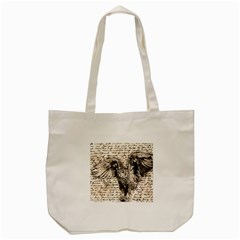Vintage Owl Tote Bag (cream) by Valentinaart