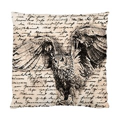 Vintage Owl Standard Cushion Case (two Sides) by Valentinaart