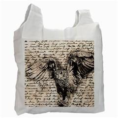Vintage Owl Recycle Bag (one Side) by Valentinaart