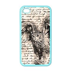 Vintage Owl Apple Iphone 4 Case (color) by Valentinaart