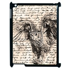 Vintage Owl Apple Ipad 2 Case (black) by Valentinaart