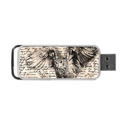 Vintage Owl Portable Usb Flash (two Sides) by Valentinaart