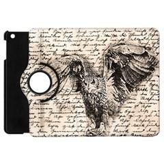 Vintage Owl Apple Ipad Mini Flip 360 Case by Valentinaart