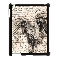 Vintage Owl Apple Ipad 3/4 Case (black) by Valentinaart