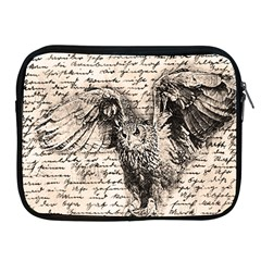 Vintage Owl Apple Ipad 2/3/4 Zipper Cases by Valentinaart