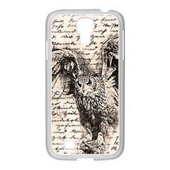 Vintage Owl Samsung Galaxy S4 I9500/ I9505 Case (white) by Valentinaart