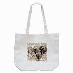 Vintage Owl Tote Bag (white) by Valentinaart