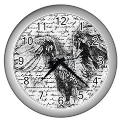 Vintage Owl Wall Clocks (silver)
