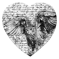 Vintage Owl Jigsaw Puzzle (heart) by Valentinaart