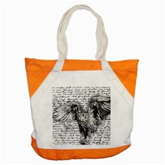 Vintage Owl Accent Tote Bag by Valentinaart