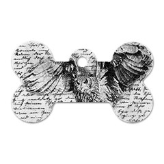 Vintage Owl Dog Tag Bone (two Sides) by Valentinaart