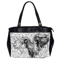 Vintage Owl Office Handbags (2 Sides)  by Valentinaart