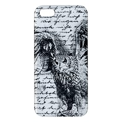 Vintage Owl Apple Iphone 5 Premium Hardshell Case by Valentinaart