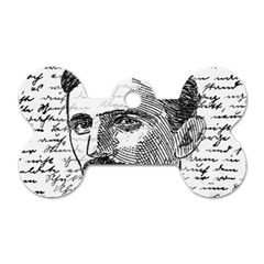 Nikola Tesla Dog Tag Bone (two Sides) by Valentinaart