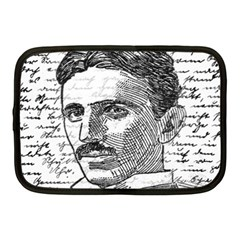 Nikola Tesla Netbook Case (medium)  by Valentinaart