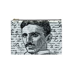 Nikola Tesla Cosmetic Bag (medium)  by Valentinaart