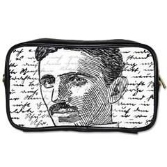 Nikola Tesla Toiletries Bags by Valentinaart