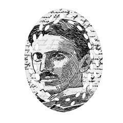Nikola Tesla Oval Filigree Ornament (two Sides) by Valentinaart