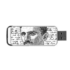 Nikola Tesla Portable Usb Flash (two Sides) by Valentinaart