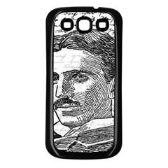 Nikola Tesla Samsung Galaxy S3 Back Case (black) by Valentinaart