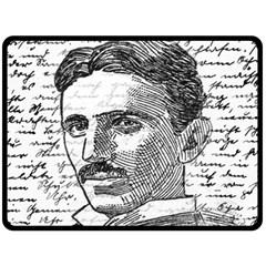 Nikola Tesla Double Sided Fleece Blanket (large)  by Valentinaart