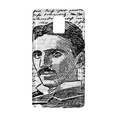 Nikola Tesla Samsung Galaxy Note 4 Hardshell Case by Valentinaart